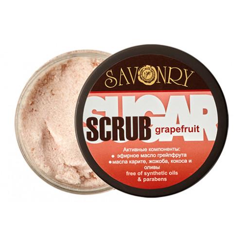 Скраб для тела  GRAPEFRUIT  сахарный, грейпфрут  300g Savonry